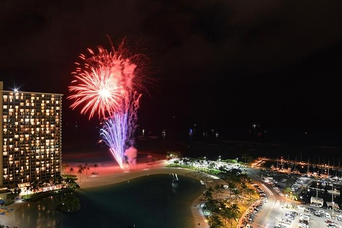 Fireworks from Lanai every Friday 7:45pm