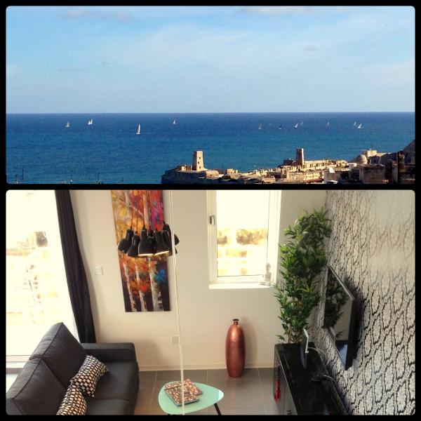 Valletta Art pentHouse with seaviews, vacation rental in Valletta
