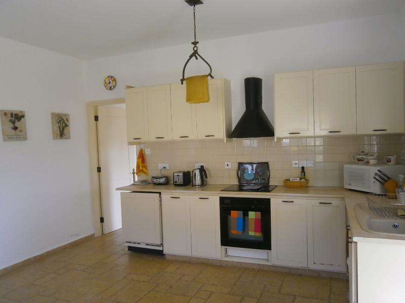 Open plan large fully equipped kitchen