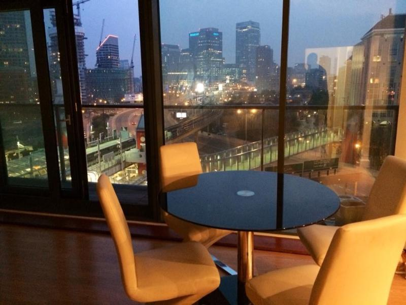 Fantastic night view over Canary Wharf