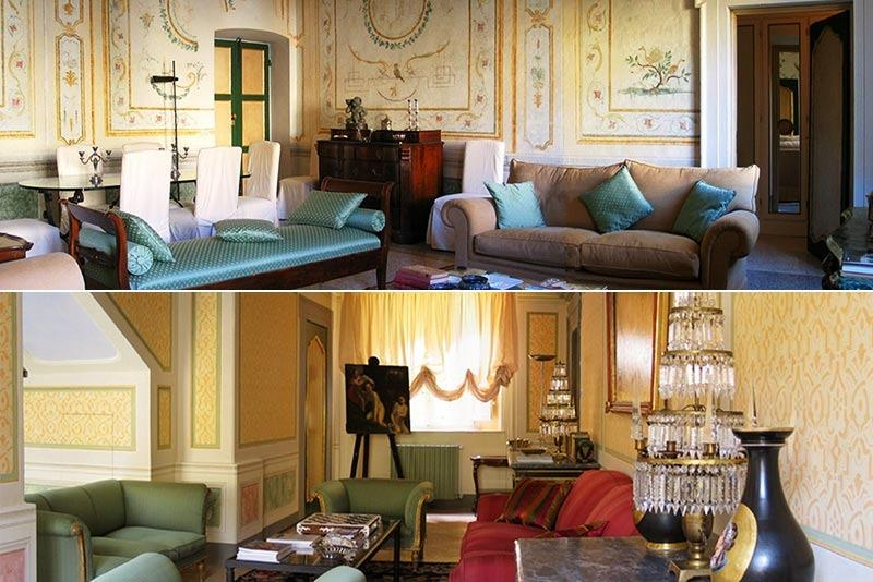 The sitting room with historic decor