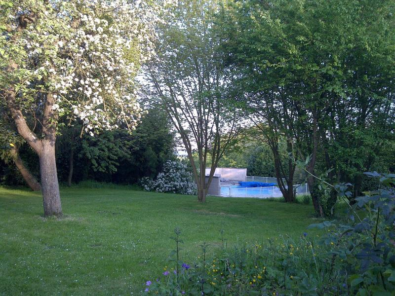 The pool, view from top lawn