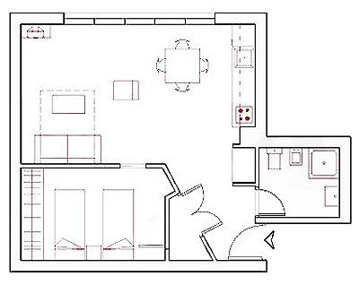 Apartment floor plan so that you can get a better sense of the space
