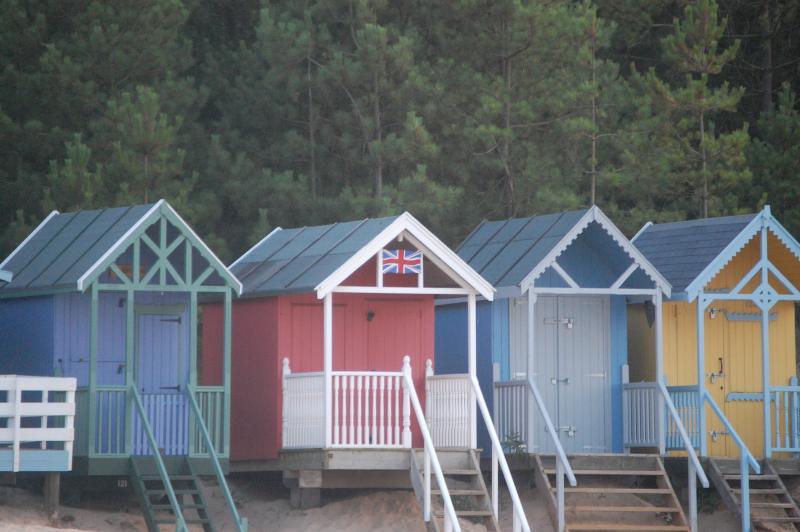 Beach Huts at Wells-Next-The-Sea, just 20 minutes drive away