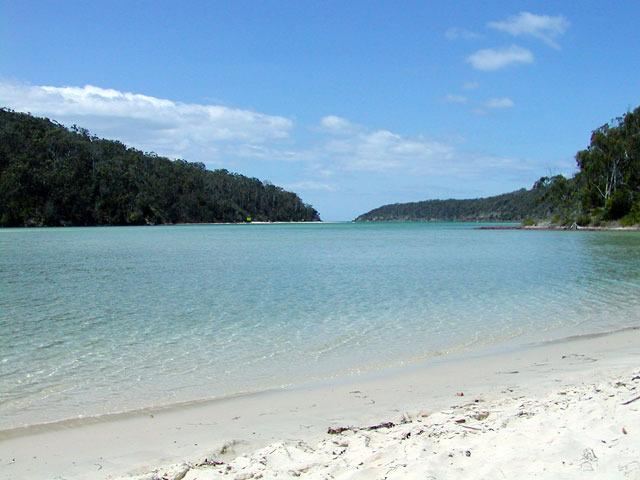 the famous Pambula Beach River mouth