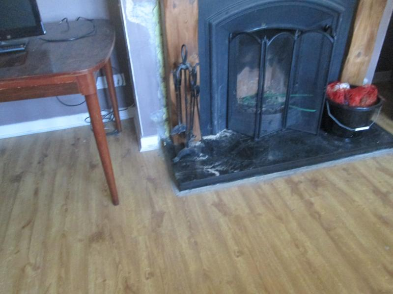 FIRE IN SITTING ROOM