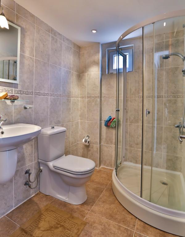 Shared shower room.