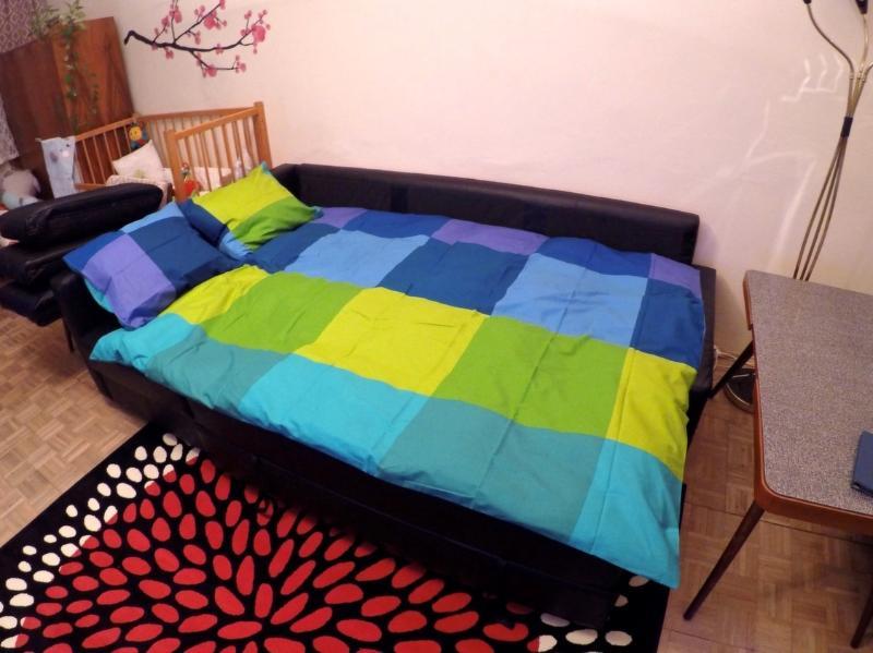 Canapé de salon lit double.