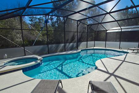 private pool / spa with conservation view