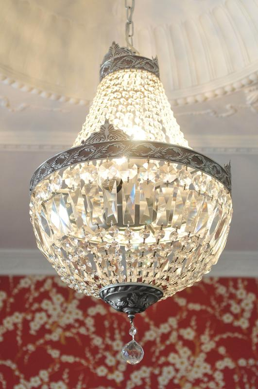 Just one of the beautiful chandeliers to be found at Pengallie