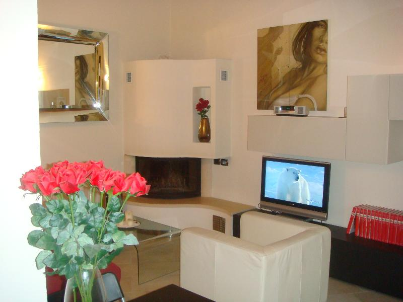 Modern apartment with nice garden in Chianti, holiday rental in Trecento
