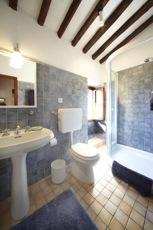 Een van de vier moderne badkamers
