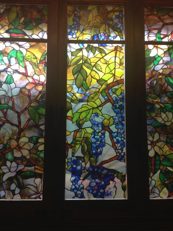 Beautiful dual and triplex, faux stained glass arrays in kitchen & bathroom dazzle you with colors