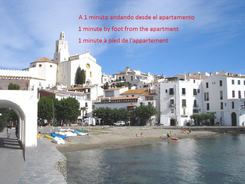 (P15.1.2) ALEGRE A 1 MINUTO DE LA PLAYA EN OLD CADAQUÉS, alquiler vacacional en Cadaqués