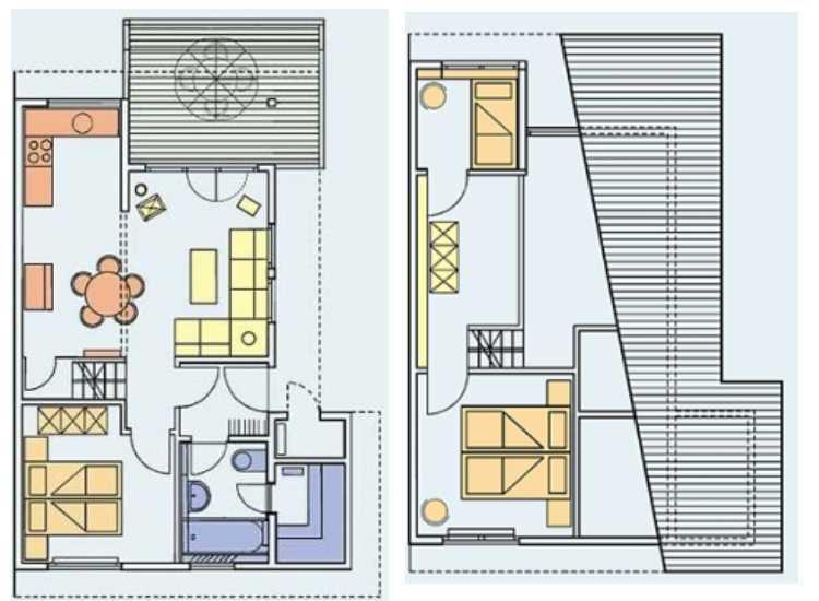 Plan d'étage 70 m2