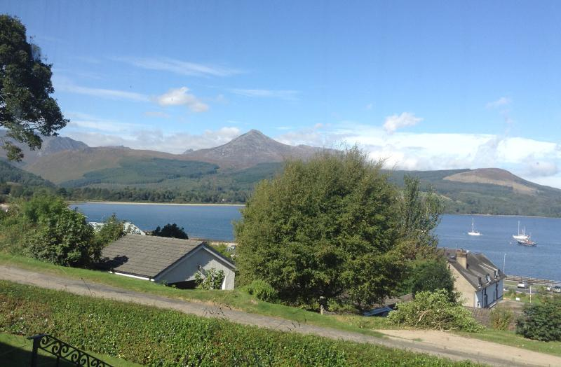 View of Goatfell from cottage