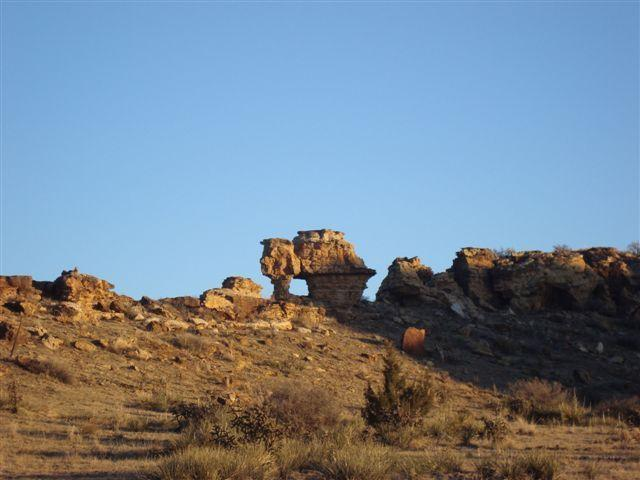 Rock formations in the area