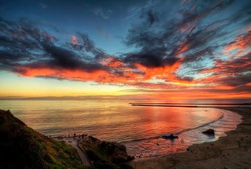 Best sunsets at Corona del Mar Beach.