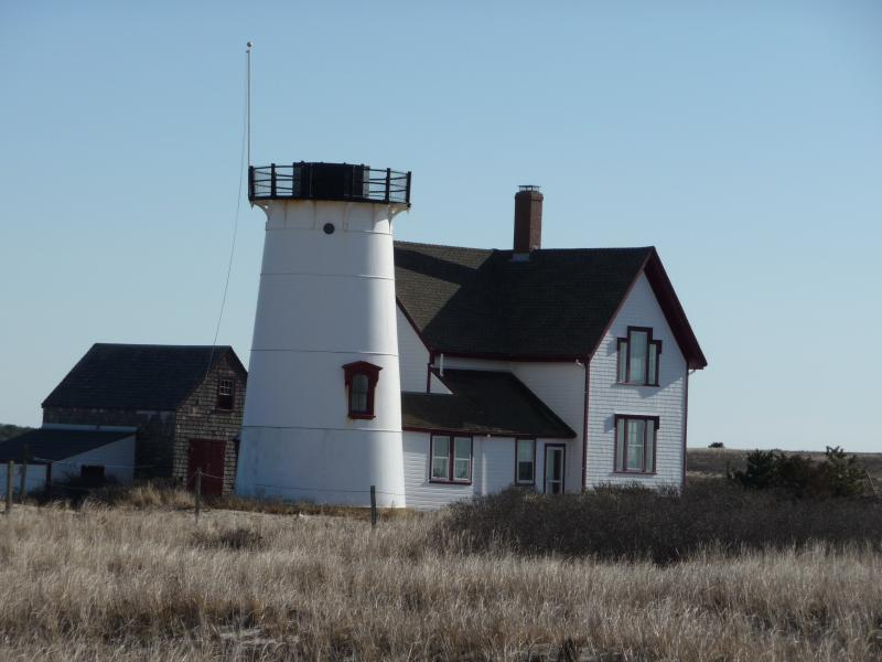 Quintessential New England, Stage Harbor light is located at the end of Hardings Beach