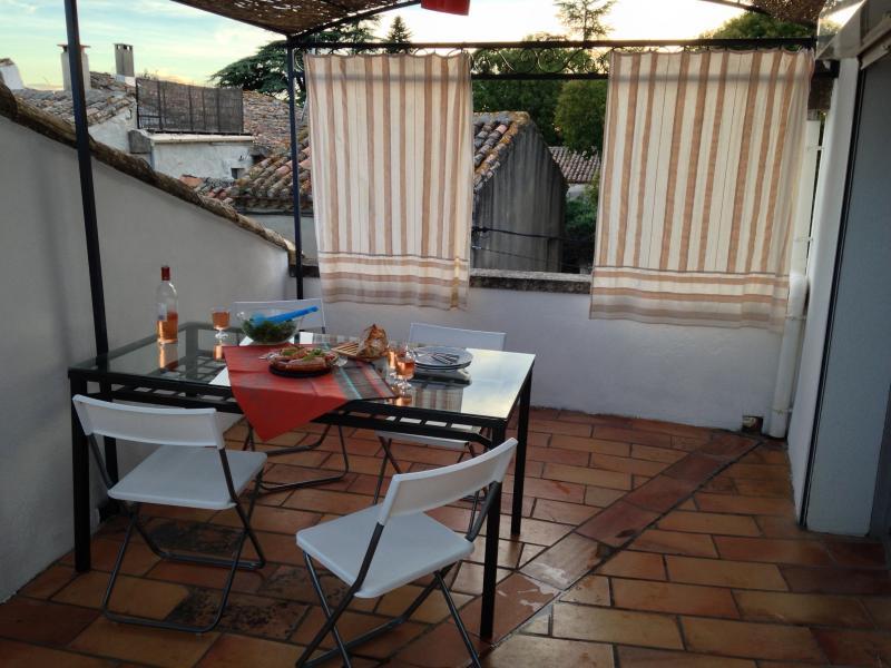 Cenare sulla terrazza