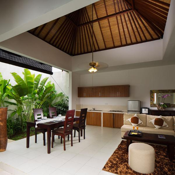 Kitchen and living room is open area