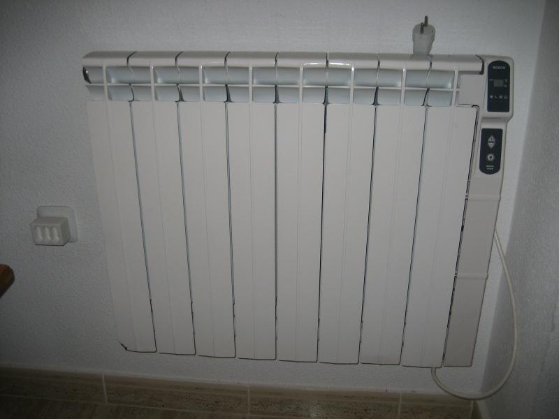 radiadores eléctricos en todas las habitaciones