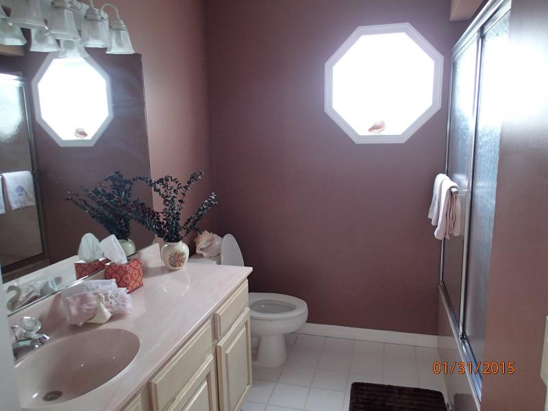 master bedroom bathroom, tub and shower
