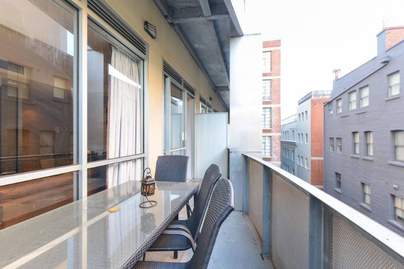 View of Outdoor Balcony.