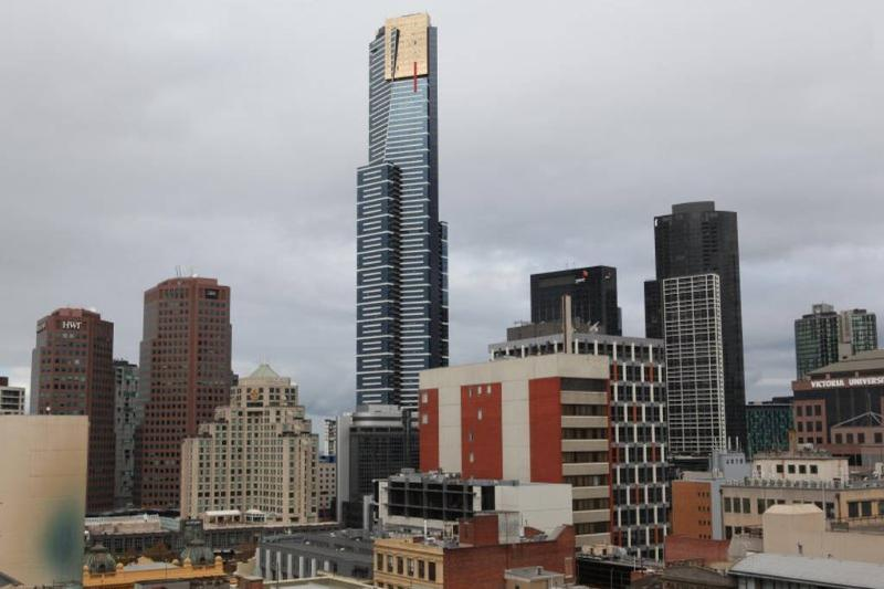 View of Eureka Tower from Balcony.