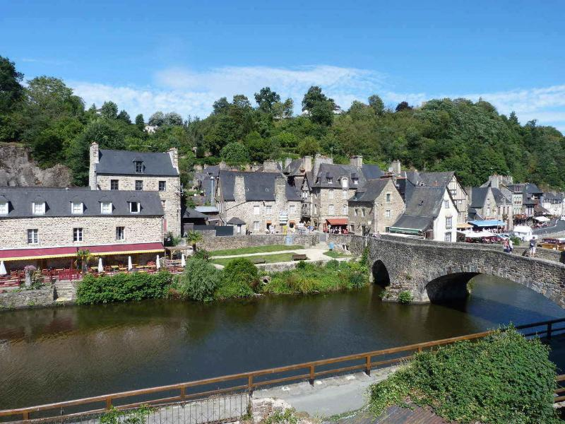 View of Dinan s old bridge from the apartment
