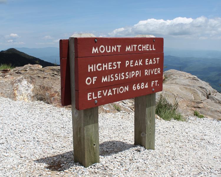Bezoek de hoogste piek in het oosten van de VS