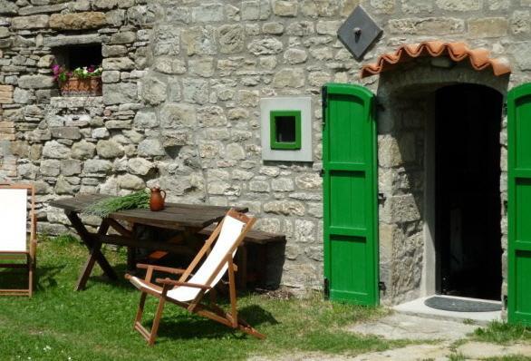 Garden furniture outside the kitchen door