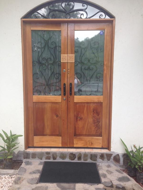 Dual French doors for each room are each individually keyed for privacy & easy access. Secure & safe