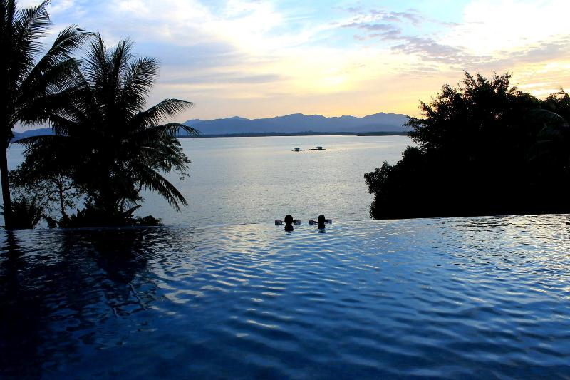 Or swim in the warm pool and relax on the edge