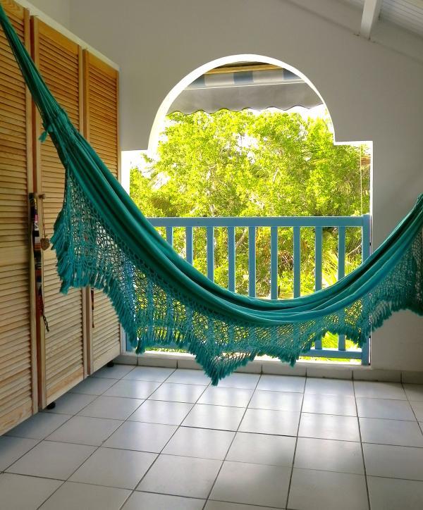 Terrasse, 2ème vue sur cocoteraie
