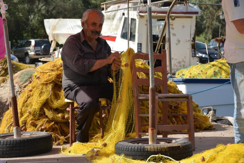 Fisherman in Sivota bay.