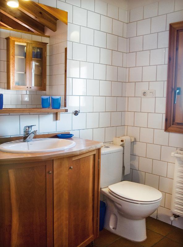 Bagno: doccia, lavabo, bidet, WC