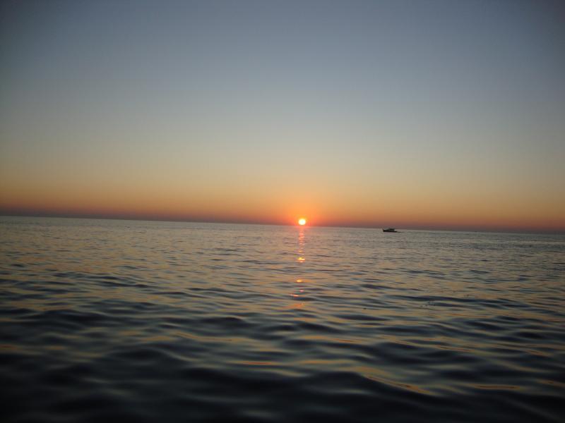 Romantic sunset in Premantura