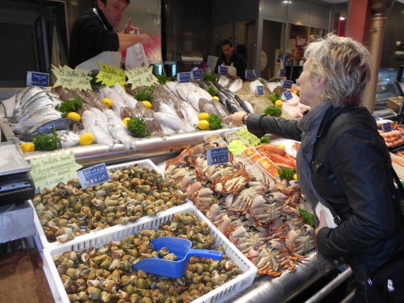Trouville vis markt Open het hele jaar rond