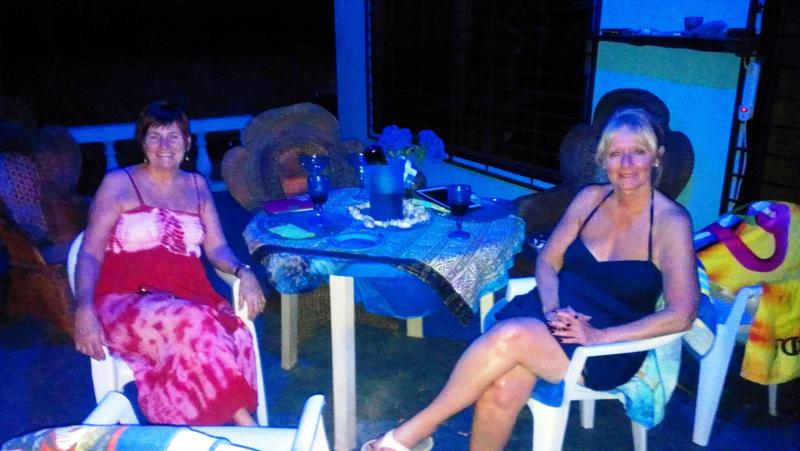 Guests on The Porch Area At Night