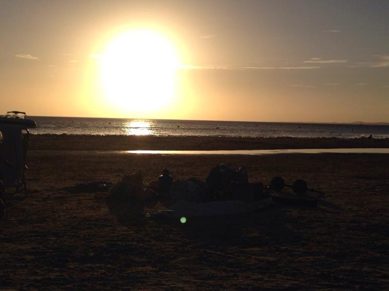 paisaje de la playa a 140 ms