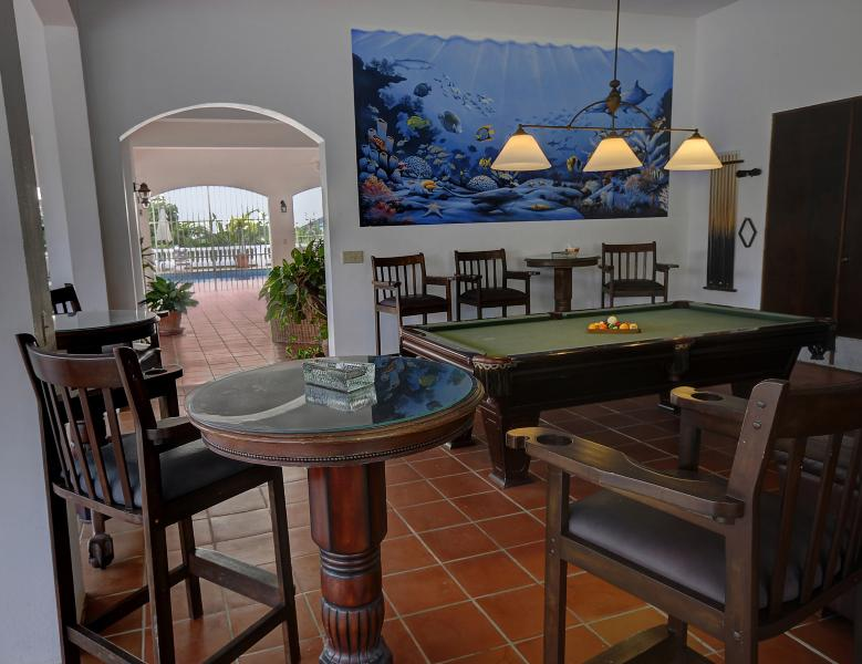 Pool Table Room and Mural Terrazza Level