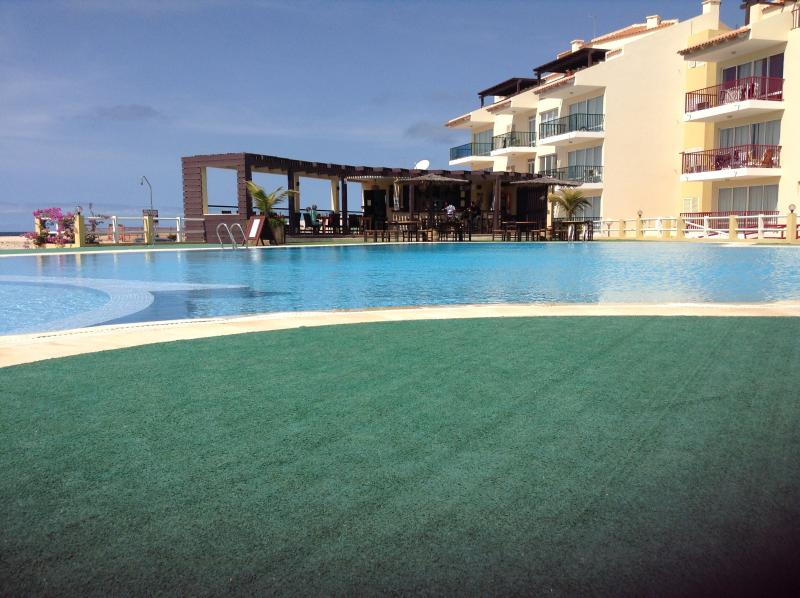 Condominium pool and bar/restaurant
