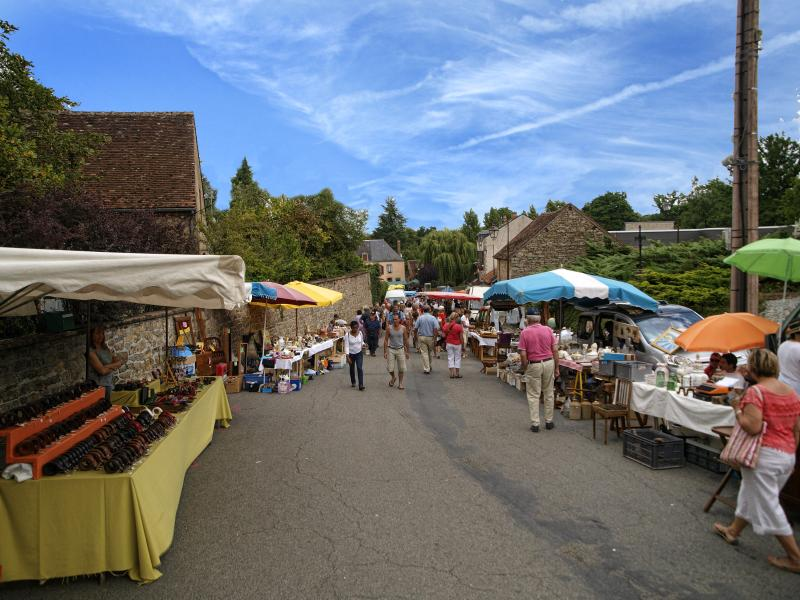 Cheniers Brocante, one of many during the Summer months