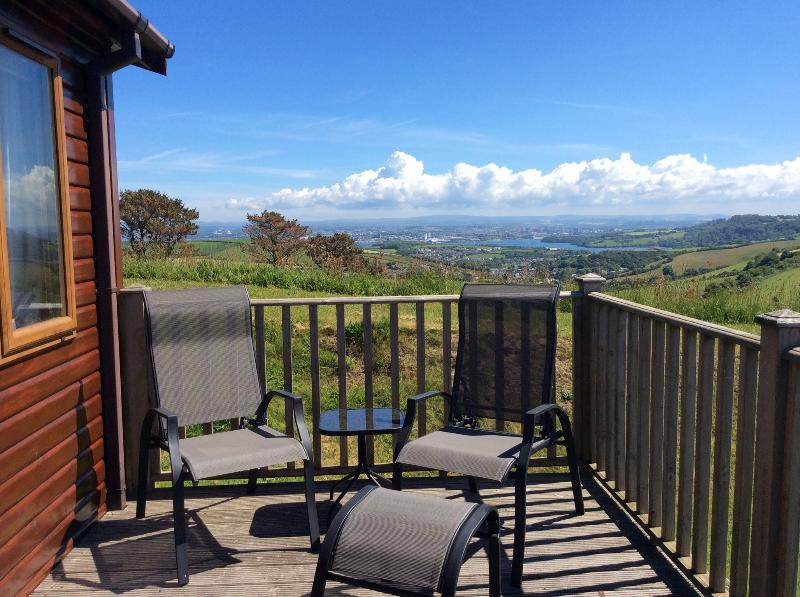View from side deck across to Dartmoor!