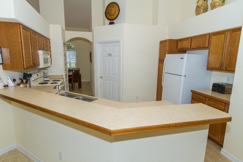 A cozinha está totalmente equipada,