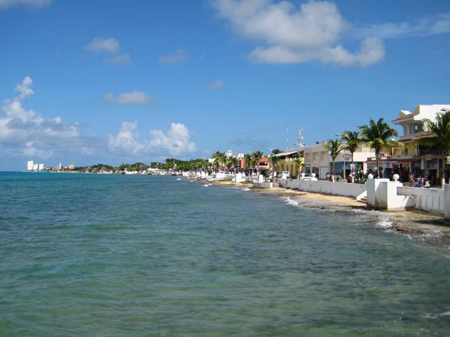 The Cozumel waterfront is only about a five minute walk.