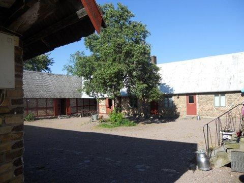 The court yard of the farm