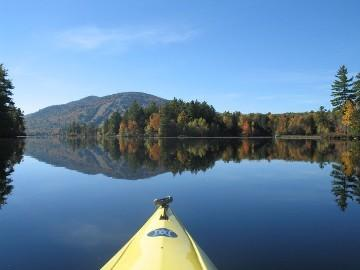 A Quiet Morning Kayak Ride on Moose Ponds Upper Basin with Shawnee Peak
