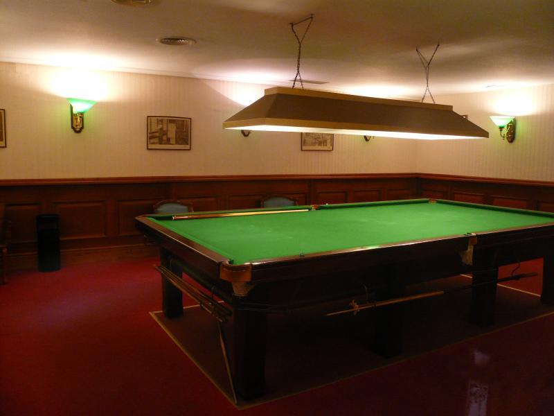 Snooker room.